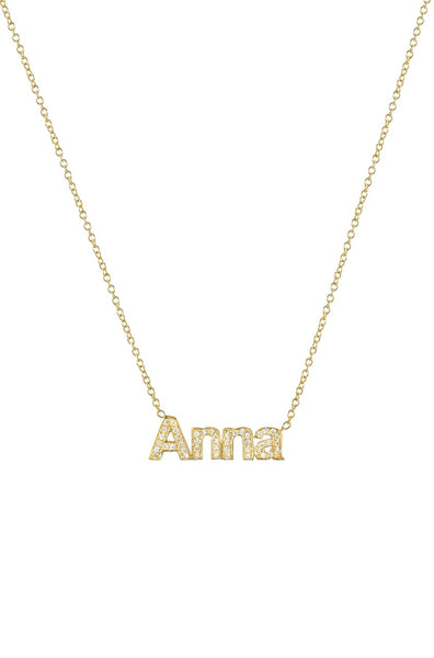 Diamond Name Necklace - Lauren Sigman Collection