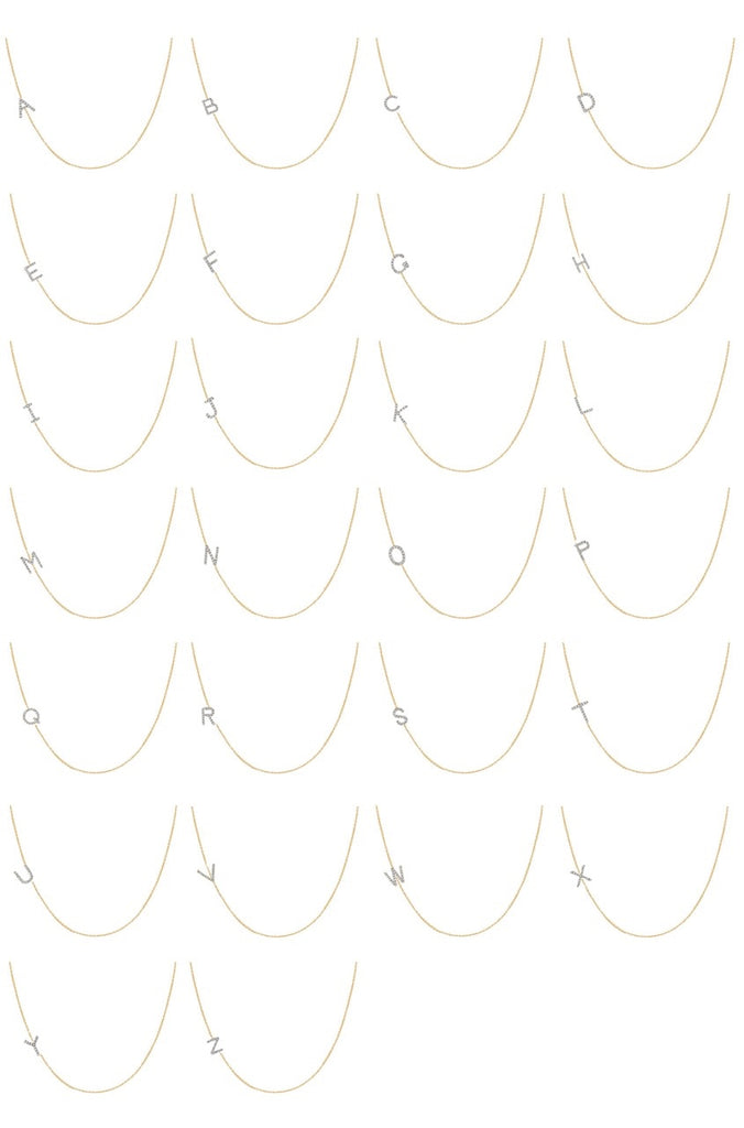 Asymmetrical Diamond Initial Necklace - Lauren Sigman Collection