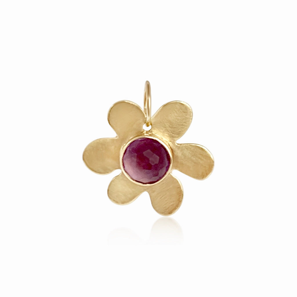 Daisy Amethyst Charm - Lauren Sigman Collection