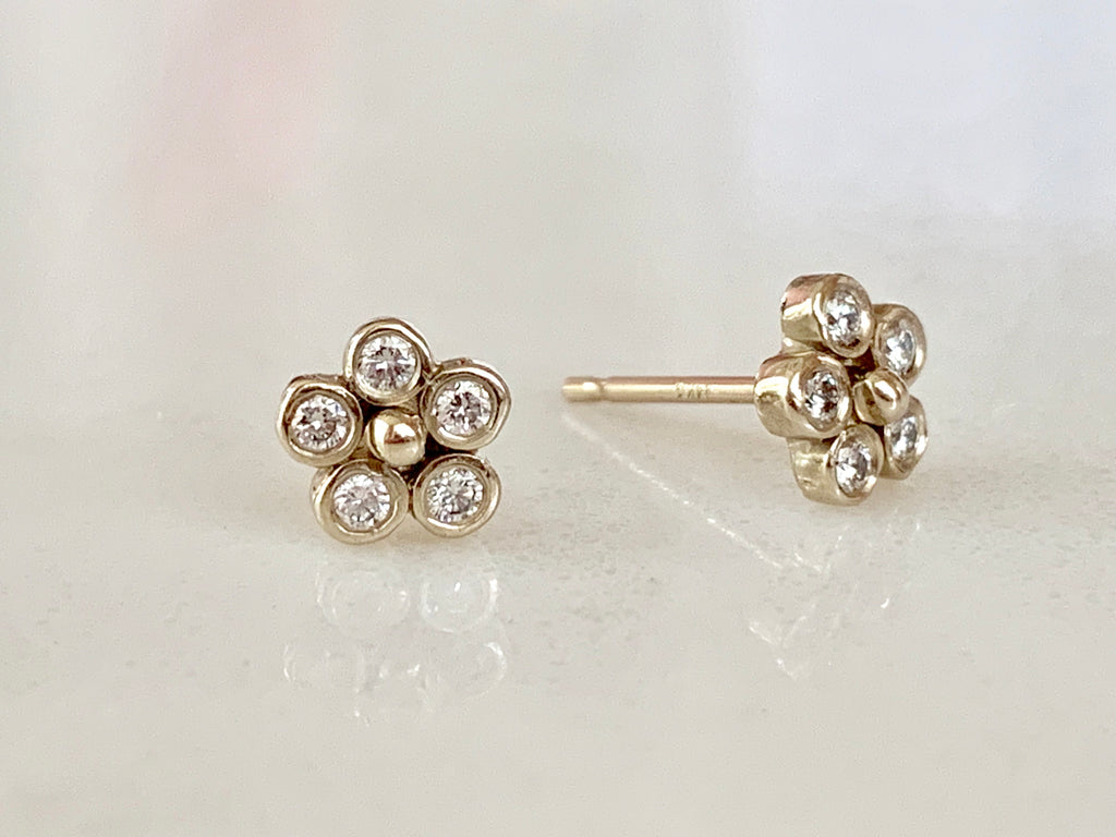 Diamond Lilac Stud Earrings (Pair) - Lauren Sigman Collection