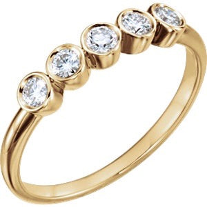Five Bezel Diamond Ring - Lauren Sigman Collection