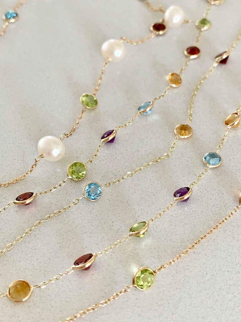 Pearl & Gemstone Necklace - Lauren Sigman Collection