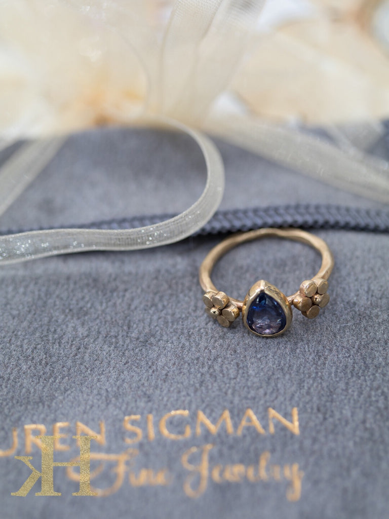 Sapphire Double Flower ring - Lauren Sigman Collection
