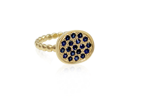 Mum Ring with Blue Sapphires - Lauren Sigman Collection