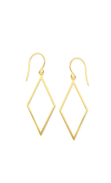 Diamond Outline Hanging Earrings - Lauren Sigman Collection