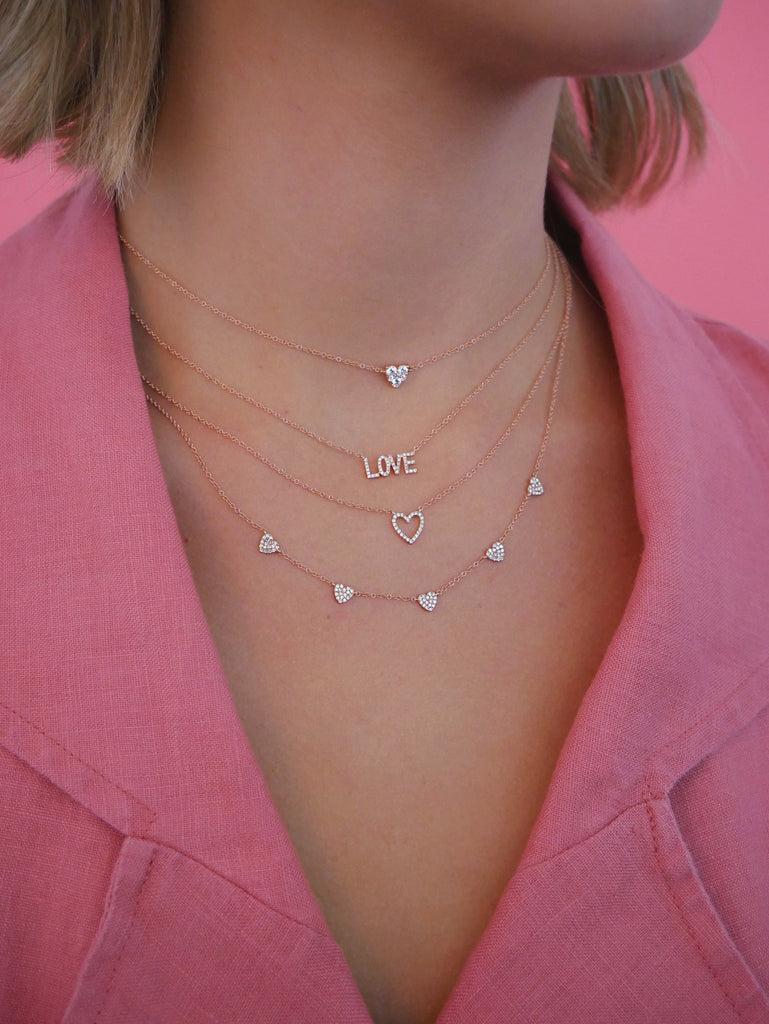 5 Heart Diamond Necklace - Lauren Sigman Collection