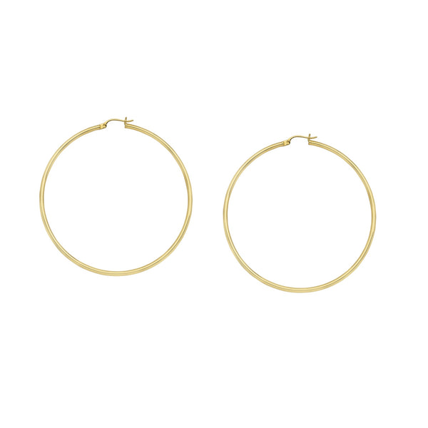 Gold Hoops-2mm/40mm - Lauren Sigman Collection