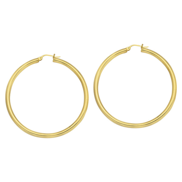 Gold Hoops-3mm/40mm - Lauren Sigman Collection