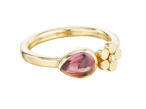 Raspberry Pear Flower Ring - Lauren Sigman Collection