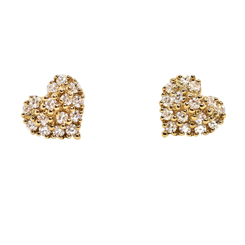 Diamond Heart Stud - Lauren Sigman Collection