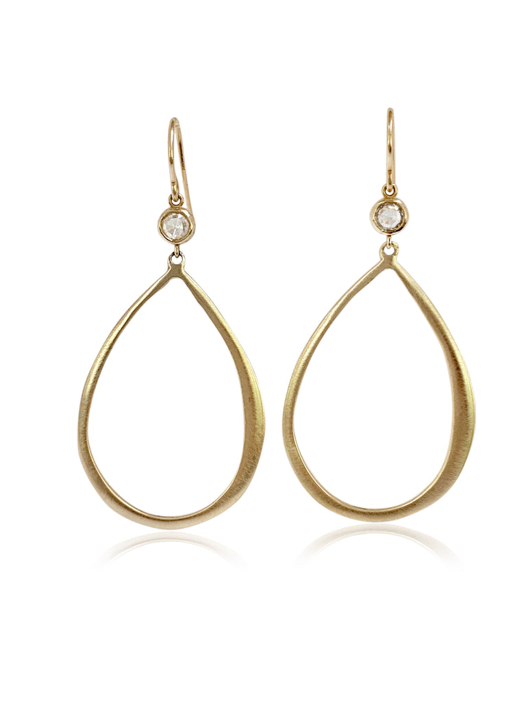 LSJ Rose Cut Diamond Hoop Earrings - Lauren Sigman Collection