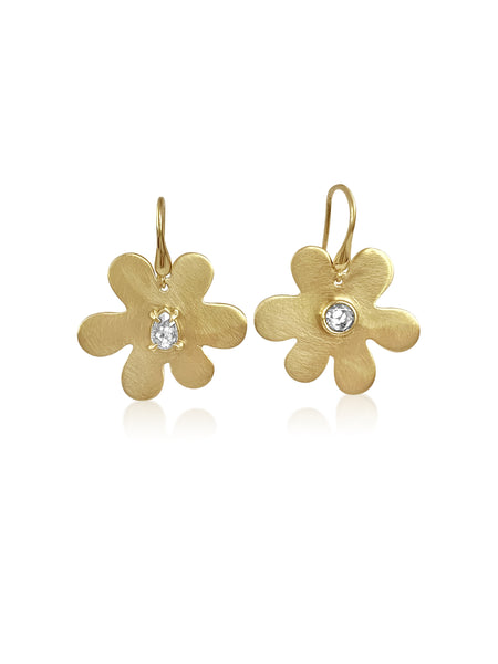 Daisy Diamond Mismatched Earrings - Lauren Sigman Collection