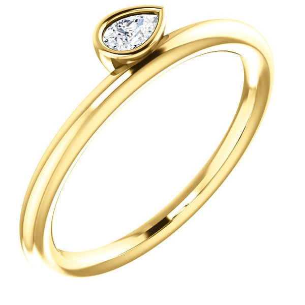 Asymmetrical Pear Diamond Ring - Lauren Sigman Collection