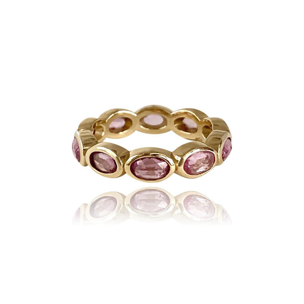 Oval Magnolia Band with Pink Sapphires - Lauren Sigman Collection