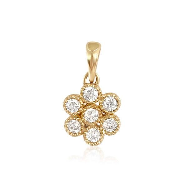 Water Lily Diamond Pendant - Lauren Sigman Collection