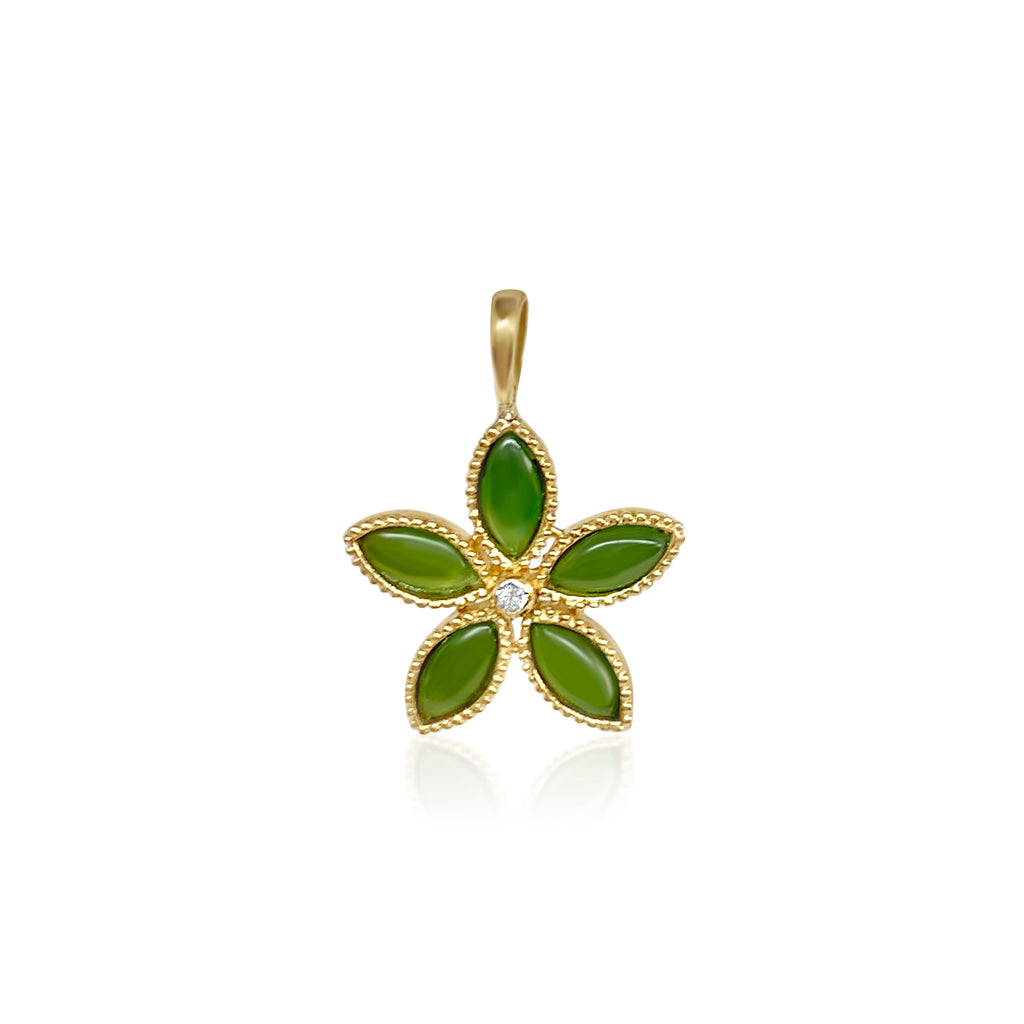 Amaryllis Pendant in Jade - Lauren Sigman Collection