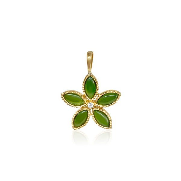 Amaryllis Pendant/Jade - Lauren Sigman Collection