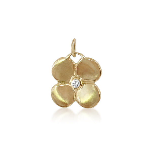 Puffy Flower Pendant with Diamond - Lauren Sigman Collection