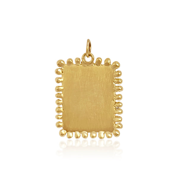 Small Beaded Dog Tag (Engravable) - Lauren Sigman Collection