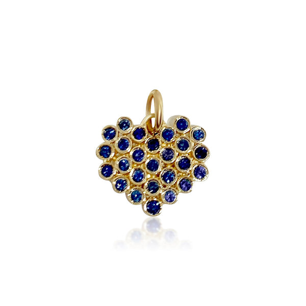 Cluster Heart/Blue Sapphires - Lauren Sigman Collection