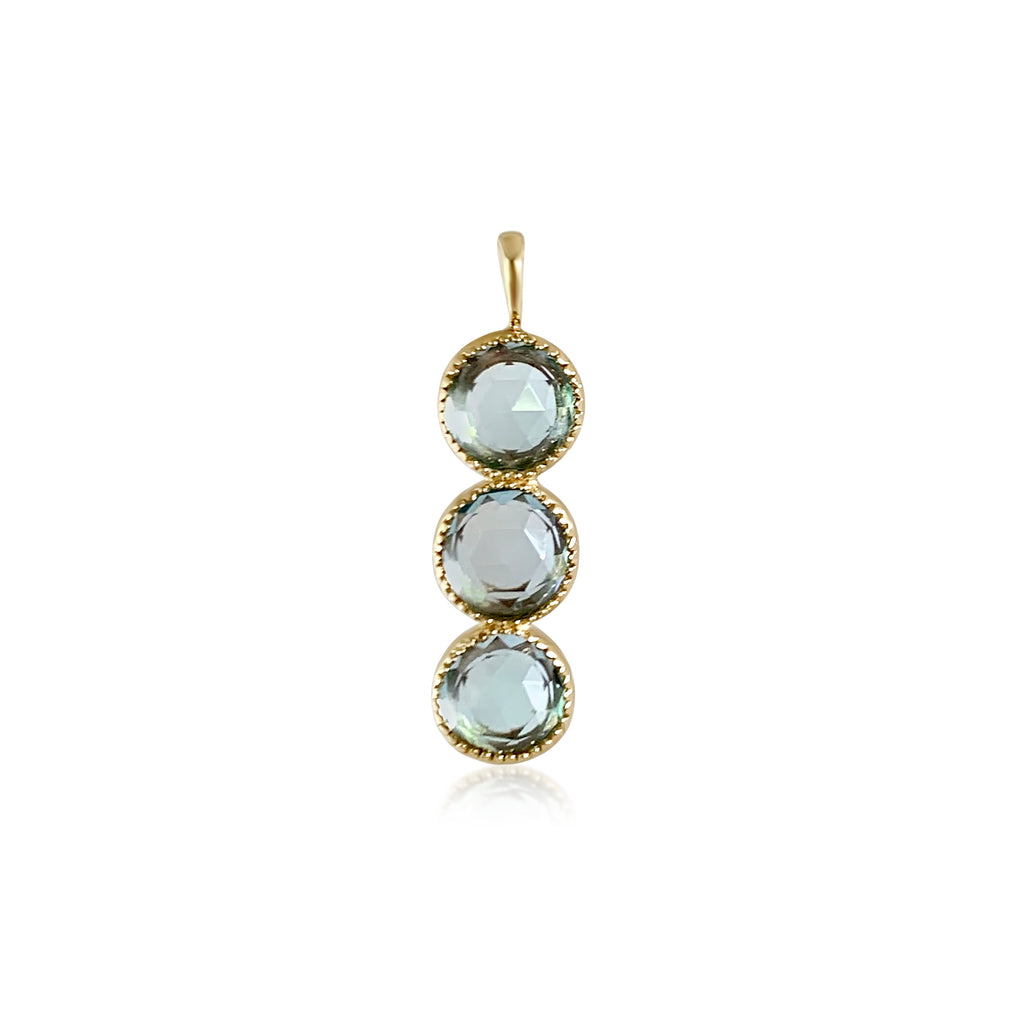 Bluebell Triple Blue Topaz Charm - Lauren Sigman Collection