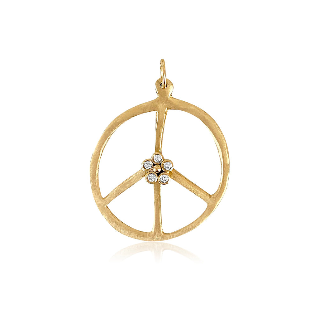 Peace Flower Diamond Pendant - Lauren Sigman Collection