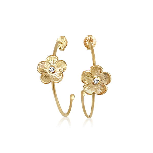 Petunia Diamond Hoops - Lauren Sigman Collection