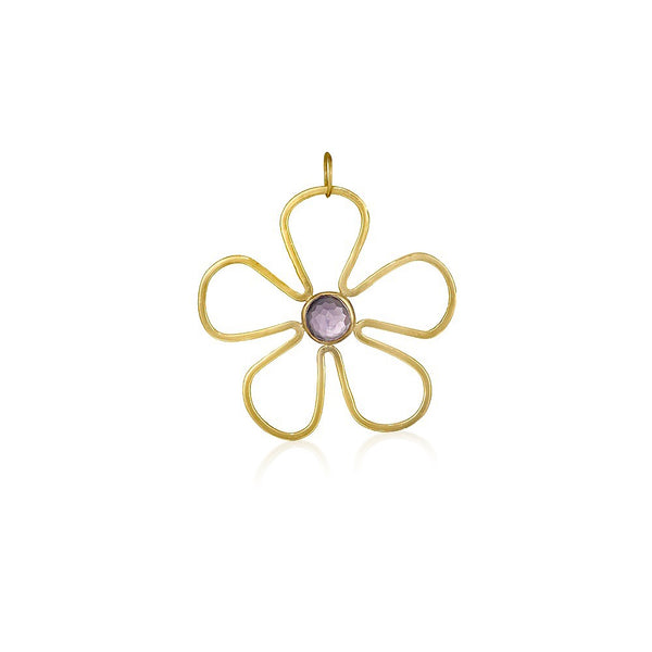 Sunflower Gemstone Pendant in Amethyst - Lauren Sigman Collection