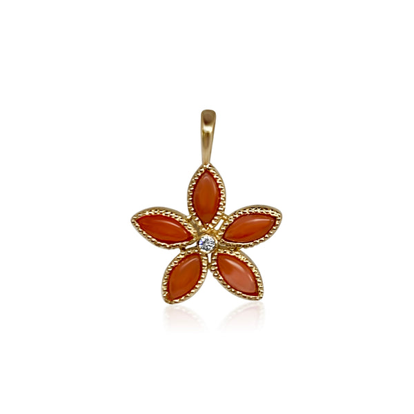 Amaryllis Pendant/Coral - Lauren Sigman Collection