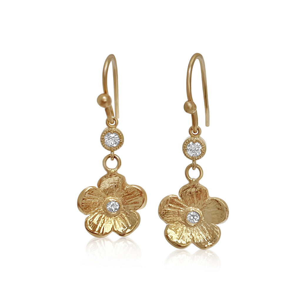 Hanging Diamond Petunia Earrings - Lauren Sigman Collection