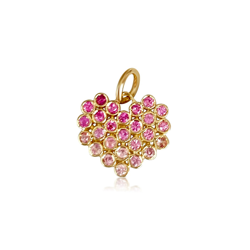 Cluster Heart /Pink Sapphires - Lauren Sigman Collection