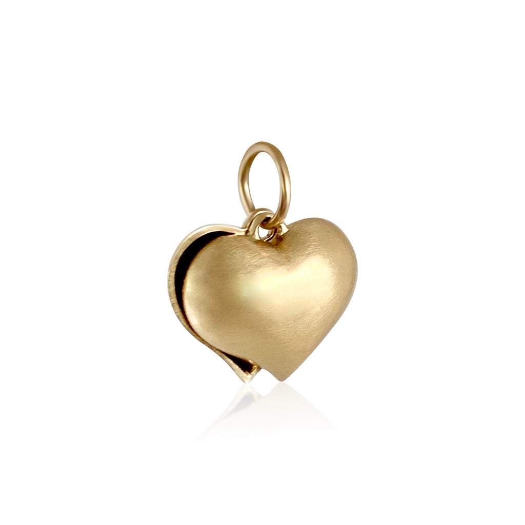 Puffy Split Heart Charm - Lauren Sigman Collection
