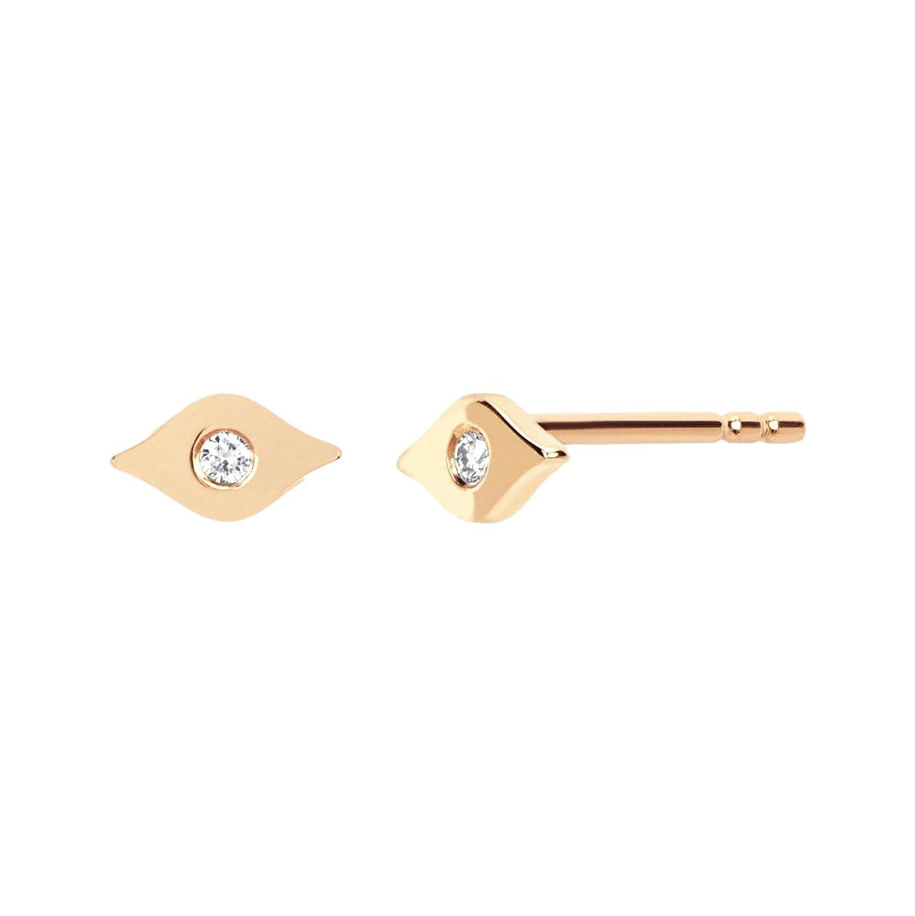 Gold & Diamond Evil Eye Stud Earrings - Lauren Sigman Collection