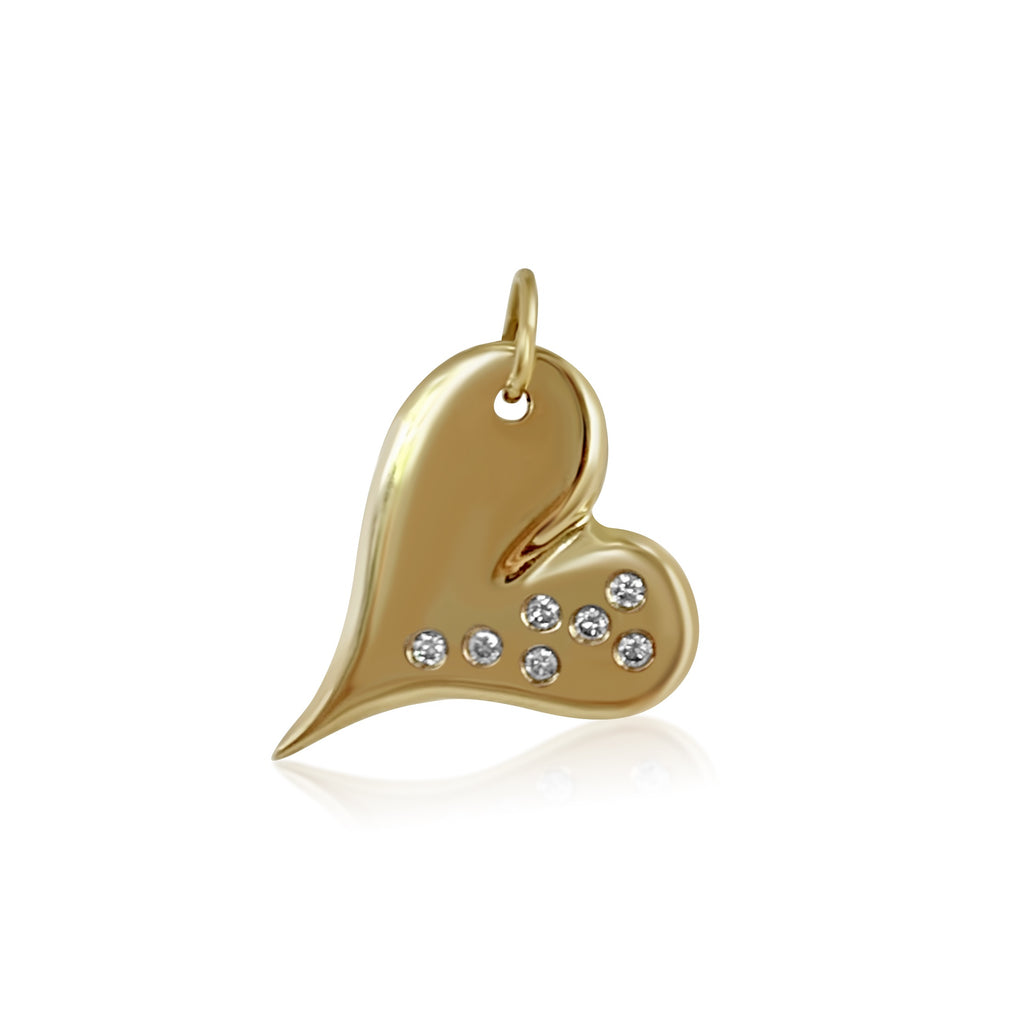 Long Heart with Diamonds - Lauren Sigman Collection