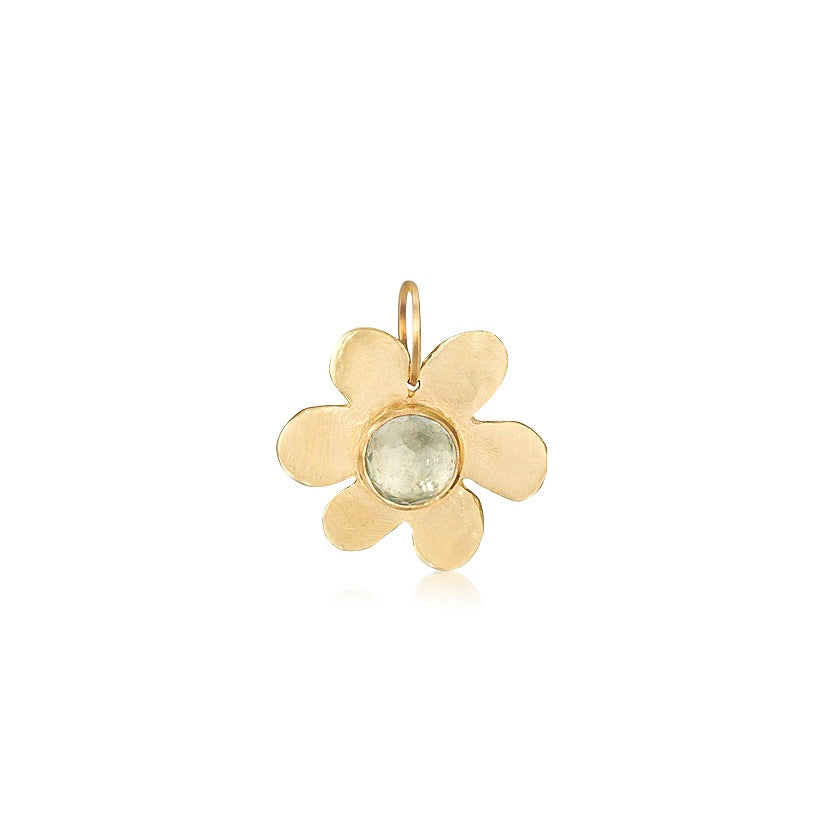 Blue Topaz Daisy Pendant - Lauren Sigman Collection