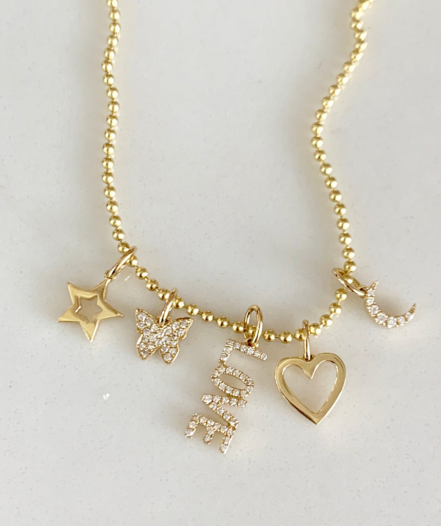 Small Diamond Love Charm - Lauren Sigman Collection
