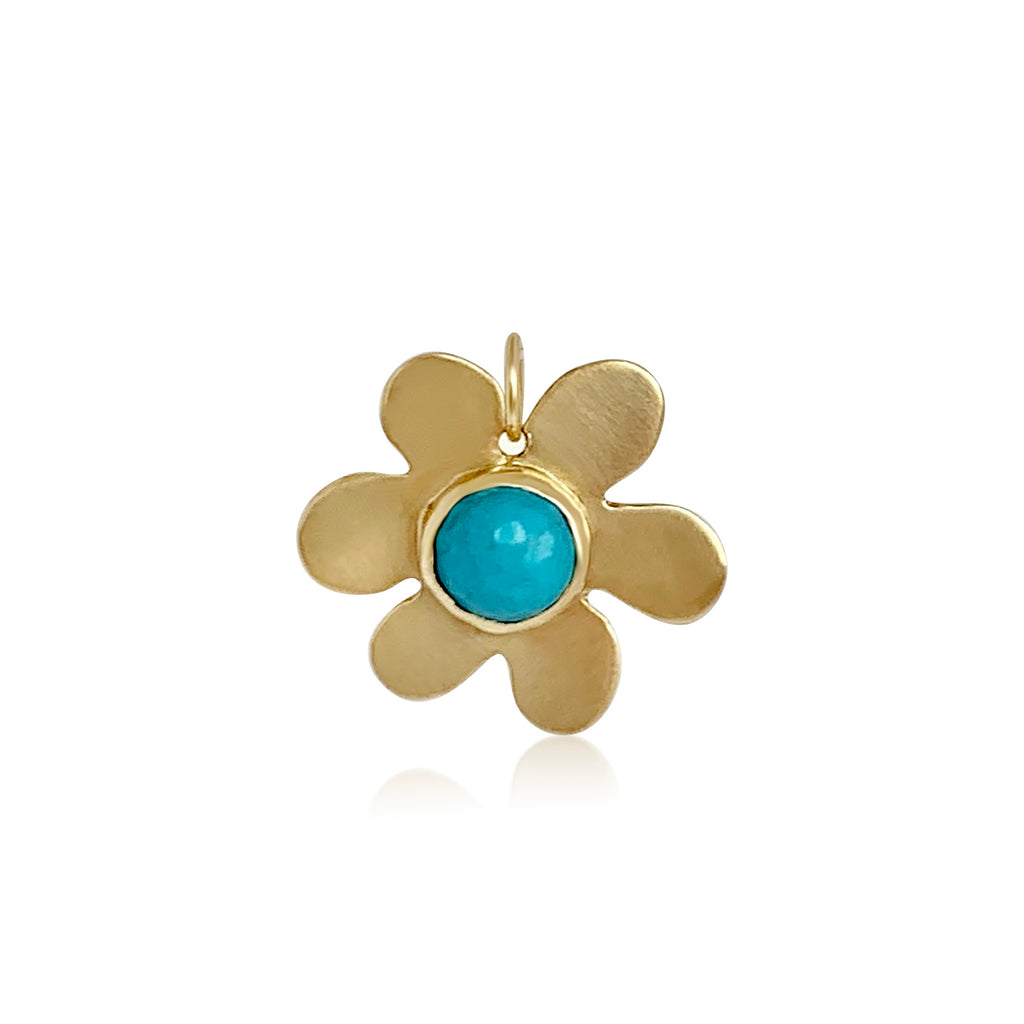 Turquoise Daisy Charm