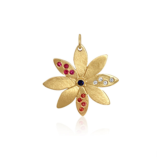 Confetti Sunburst Leaf Charm - Lauren Sigman Collection