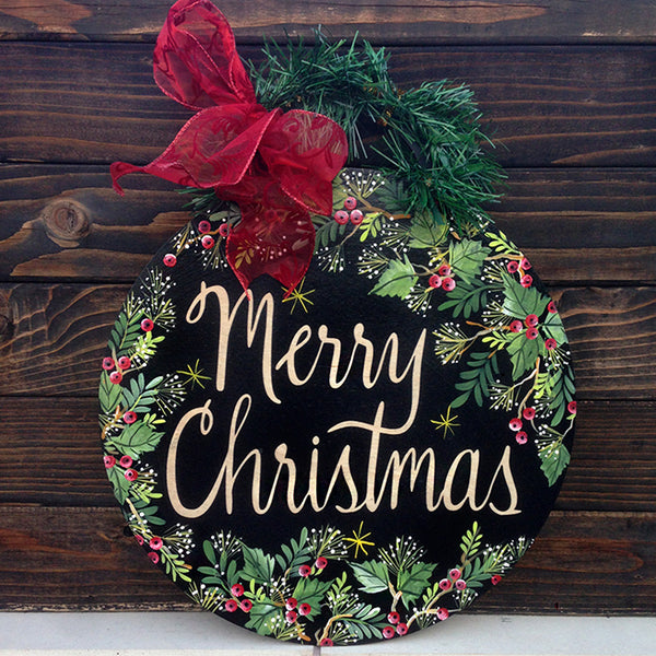 Large Merry Christmas Ornament Sign - www.boobaloo.com