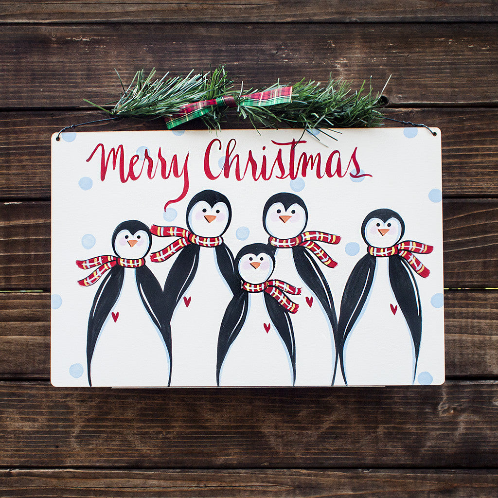 Merry Christmas Penguin Family - www.boobaloo.com