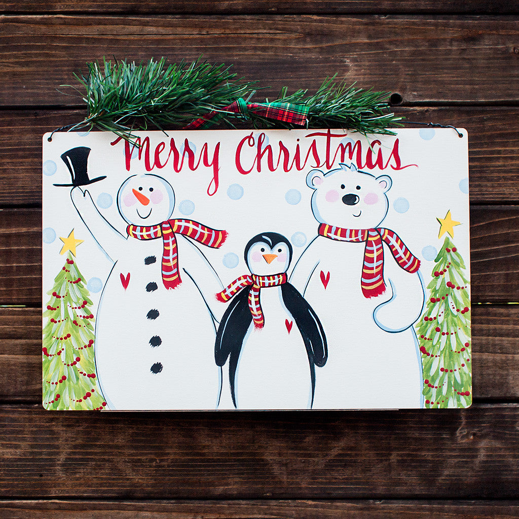 Merry Christmas - Snowman, Penguin, Polar Bear - www.boobaloo.com