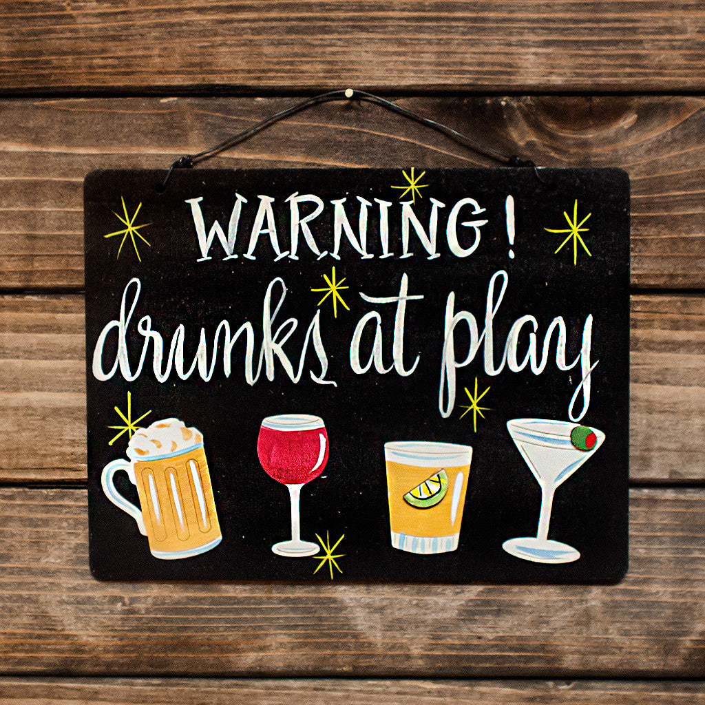 Warning Drunks At Play - www.boobaloo.com