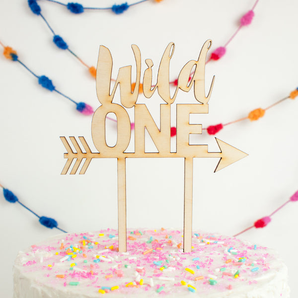 Wild One wood cake topper - www.boobaloo.com