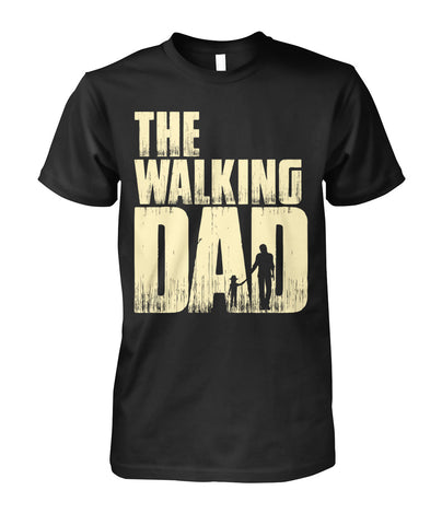 The Walking Dad with Cowgirl Hat Unisex Cotton Tee