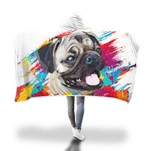 Load image into Gallery viewer, Pug Hooded Blanket