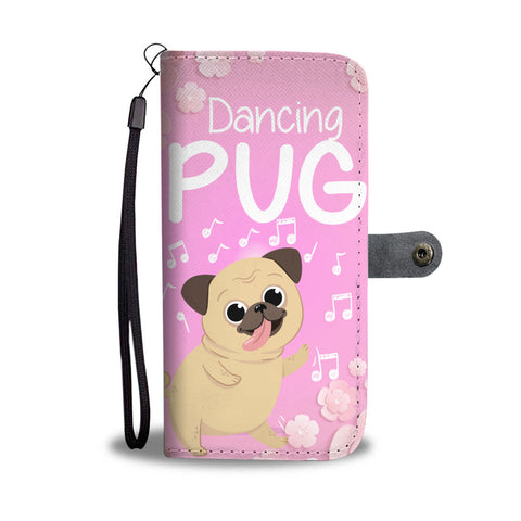 Dancing Pug Wallet Case