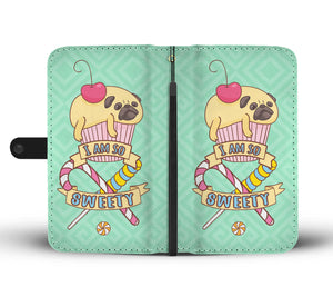 Pug Cake Phone Wallet Case