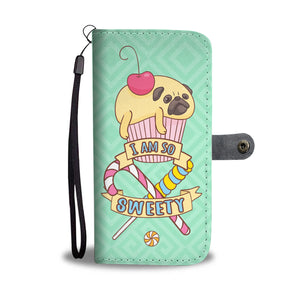 Pug Cake Cell Phone Wallet Case