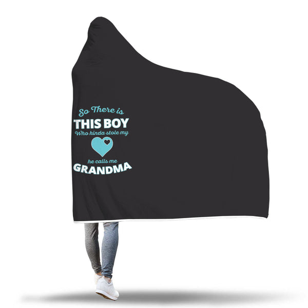 So There Is This Boy - Grandma Hooded Blanket