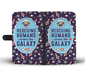Rescuing Humans Pug Wallet Case